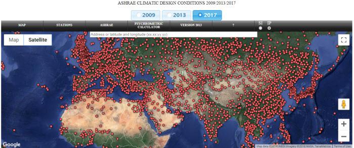 ASHRAE 1 1 - داده های آب و هوایی از اشری