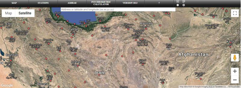 ASHRAE 1 2 - داده های آب و هوایی از اشری