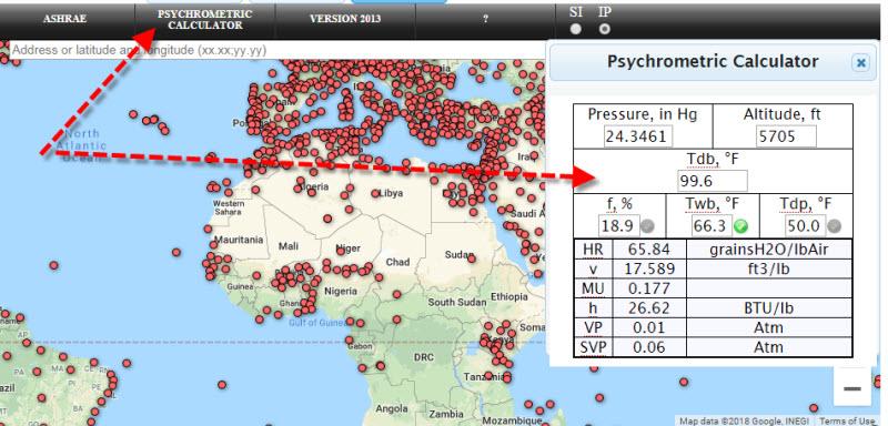 ASHRAE 1 7 - داده های آب و هوایی از اشری