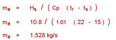 محاسبات هواساز در سایکرومتریک 7